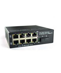Converter single mode 8 cổng LAN 100Mbps