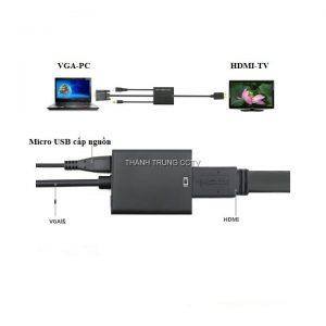 Chuyển VGA ra HDMI