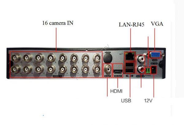 Đầu ghi 16 kênh AHD-CVI-TVI-Analog
