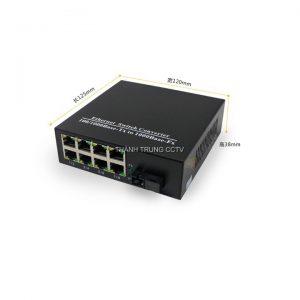 Converter singe mode 8 cổng Lan 1Gbps