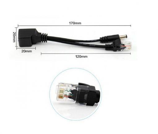 Bộ ghép nguồn 12V và tín hiệu mạng cho camera IP