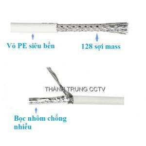 Cáp đồng trục KHT 128 sợi mass cuộn 100m