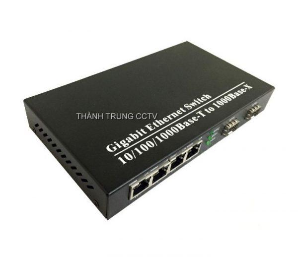 Switch 2 khe sfp và 4 cổng lan gigabit