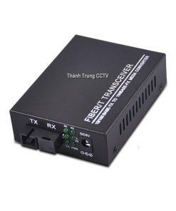 Converter single mode 4 cổng Lan 100mbps