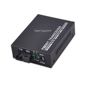 Converter single mode 4 cổng Lan 100mbps