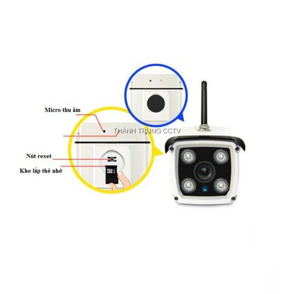 Camera wifi 1.0Mp ngoài trời ghi âm W0927