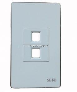 Wallplate Seto 2 port RJ45